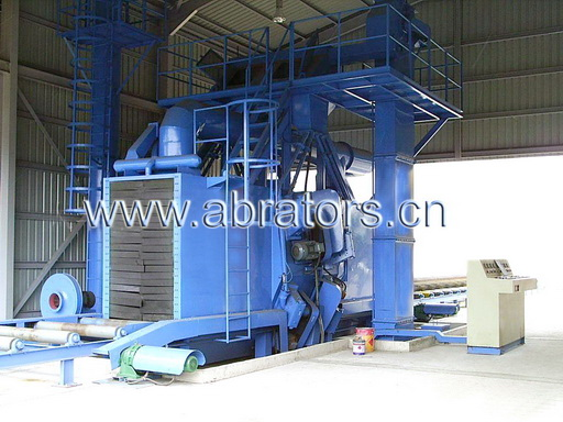 H-Steel Abrator, H-beam shot blasting machine - LCH1018