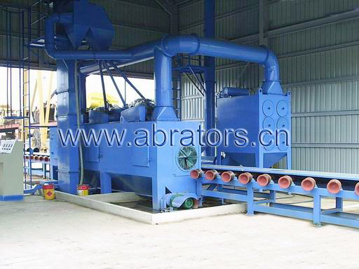 LCP400F Steel Pipe Polisher, Steel pipe shot blasting machine, abrator